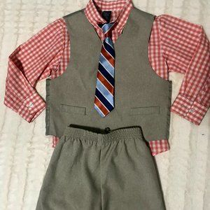 Nautica Boy's 4-Piece Tie, Vest, Shirt & Pants Set